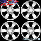 """4 NEW OEM SILVER 16"""" HUB CAPS FITS CHEVROLET CHEVY CENTER TRUCK WHEEL COVERS SET"""