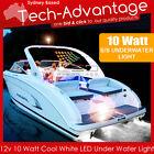 12V 10W WHITE UNDERWATER LED LIGHT BOAT MARINE SUBMERSIBLE SQUID FISHING LIGHT