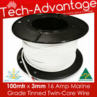 100M X 3mm 16 AMP MARINE TINNED TWO-CORE LED WIRE/ELECTRICAL CABLE - BOAT/RV