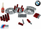 4 Pc 15 MM Thick BMW Wheel Spacers & Stud Conversion & Red Racing Lug Nuts