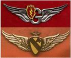 Set of 2 -  25th Division Door Gunner Wings & 1st Cav Army Senior Aviator Wings