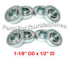 """8-PACK, FLANGED BEARINGS 1-1/8"""" OD, 1/2"""" ID, GO KARTS, OUTDOOR TOYS, LAWNMOWERS"""