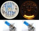 """7"""" XENON H4 10 LED DUAL FUNCTION TURN SIGNAL & PARK HEADLIGHTS HEAD LAMP - 1"""