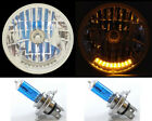 """7"""" XENON H4 10 LED DUAL FUNCTION TURN SIGNAL & PARK HEADLIGHTS HEAD LAMP - 3"""