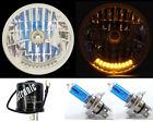"7"" XENON H4 10 LED DUAL FUNCTION TURN SIGNAL & PARK HEADLIGHTS W/ FLASHER - 5"
