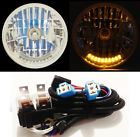 "7"" XENON H4 10 LED DUAL FUNCTION TURN SIGNAL & PARK HEADLIGHTS + RELAY HARNESS 3"