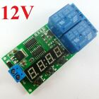 DC 12V 9-Function Delay Relay Controller Motor Reverse Cyclic Timers Switch LED