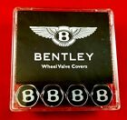 BENTLEY VALVE STEM CAPS IN BLACK OEM 3W0601367