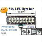 2×54W CREE LED WORK LIGHT BAR SPOT LIGHT TRUCK BOAT OFFROAD SAVED ON 120W/240W