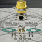 UNIVERSAL EXTERNAL 38MM TURBO V-BAND WASTEGATE WG BYPASS EXHAUST+SPRING JDM GOLD