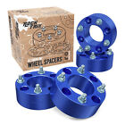 "4pc 2"" Thick ATV 4/110 Wheel Spacers for Honda Kawasaki UTV 4x110 Cone Nuts Blue"
