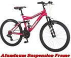 "MONGOOSE MOUNTAIN BIKE 24"" PINK GIRL'S ALUMINUM TRAIL RIDE BICYCLE SHIMANO NEW!"