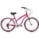 Magenta Cruiser Bike 26 Women 7 Speed Vintage Retro Bicycle Beach Classic New