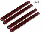 "4X RED LIGHT BAR 17"" LED SEALED TRAILER TRUCK STOP TAIL AND TURN WATERPROOF"