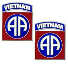 82nd Airborne Vietnam Tab Shoulder Insignia Cuff Links