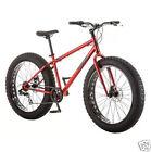 "Fat Tire Bike All Terrain Mountain Bike 26"" Hitch Men's Offroad Mud Ride Red"
