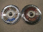 """57 Ford Thunderbird Galaxie Fairlane Victoria 14"""" hubcaps qty 2 used wheel cover"""