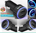 DOUBLE USB IN CAR MICRO CHARGER ADAPTER WITH LED LIGHT FOR SAMSUNG, IPHONES, HTC