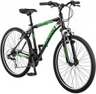 26 Schwinn Sidewinder Men's Mountain Bike, Matte Black/Green