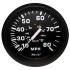 "Faria Euro Black 4"" Speedometer - 80MPH (Mechanical)"