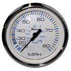 "Faria Chesapeake White SS 4"" Speedometer - 80MPH (Mechanical)"