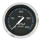 "Faria Chesapeake Black SS 4"" Tachometer - 4,000 RPM (Diesel - Magnetic Pick-up)"