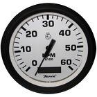 "Faria Euro White 4"" Tachometer w/Hourmeter - 6,000 RPM (Gas - Inboard)"