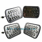 "4x 7""x6"" H4 15 LED Light Bulbs Crystal Clear Sealed Beam Headlight Headlamp IP67"