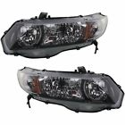New Headlights Lamps Set of 2 Driver & Passenger Side Coupe LH RH for Civic Pair
