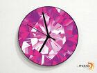 Amethyst - Gemstone - Precious Jewel - Wall Clock