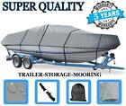 GREY BOAT COVER FOR MONARK CRAPPIE KING 1650 VC ALL YEARS