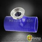 """Blue SSQV SQV Style Turbo Blow Off Valve 2.5"""" Reincforced Silicone Pipe Adapter"""