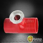 """2.5"""" Type SSQV SQV Turbo BOV Blow Off Valve Flange Silicone Coupler Adapter Red"""