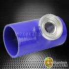 """Blue SSQV SQV Style Turbo Blow Off Valve 3.0"""" Reincforced Silicone Pipe Adapter"""
