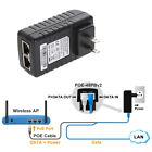24V 1A POE Injector Power Over Ethernet Adapter for 802.3 af IP Camera Wlan NEW