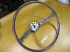 Ford Mercury OEM Steering Wheel Light Green Deluxe 2 Spoke w/ Woodgrain Insert