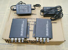 4CH Video Optical Fiber Optic Media Converters Transmitter Receiver CCTV 1pair