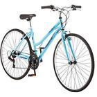 Roadmaster Ladies Hybrid Bike 700c Bike Comfort Bicycles 18 Speed Blue Cruiser