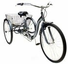 "26"" Inch Meridian Adult Women Men Tricycle Aluminum Frame Trike Mint Silver New"