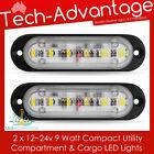 2 X 12V 9W VERSATILE COMPACT UTILITY COMPARTMENT CARGO LOCKER GUNWALE LED LIGHTS
