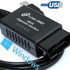 ELM327 USB modified fits Mercedes OBD2 diagnostic code reader reset tool