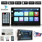 """7"""" HD Touch Screen Double 2 DIN Car Stereo Player Bluetooth Radio+Camera Hot"""