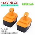 2 x 14.4V Battery For Ryobi 1314702 130224010 14.4 Volt CTH1442K2 HP1441 1400655