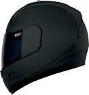 Icon Alliance Dark Motorcycle Full Face Helmet Flat Matte Black Medium MD