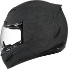 Icon Airmada Chantilly Motorcycle Full Face Helmet Flat Matte Black Large LG