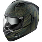 Icon Alliance GT Operatr Full Face Motorcycle Helmet Green Large LG