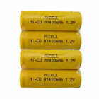 4x PKCELL Size A Rechargeable NiCd Battery 1400mAh Flat Top Cell FAST USA SHIP