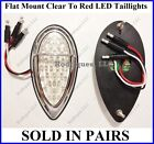 Flat Mount Clear to Red LED Taillights Zephyr Brake Tail Turn Signal F39CZ - 5