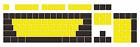 Yellow & Black Mixed PBT Keycap OEM Top/Side/Non Print 60/87/104 Cherry Mx