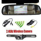 "4.3"" Car TFT LCD Monitor Mirror Wireless Reverse Car Rear View Backup Camera USA"
